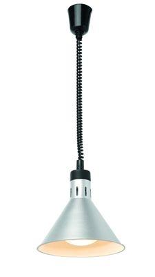 Lampe chauffante réglable en hauteur, conique - argent