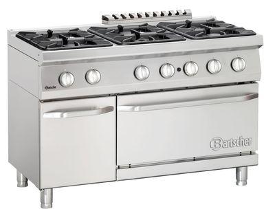6 Flammen Gasherd 700 Classic mit Gasbackofen und Neutralschrank