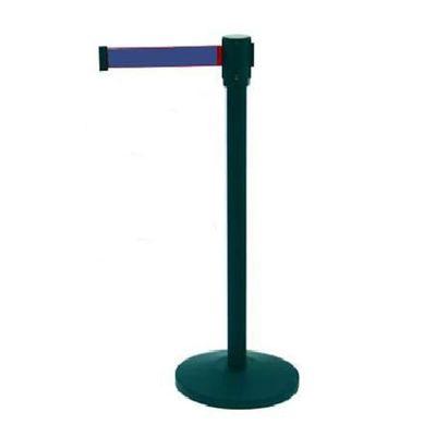 Personenleitsystem SIMPLEFLEX pulverbeschichtet schwarz, Gurt blau