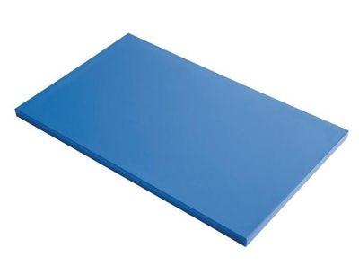 Planche à découper en polyéthylène haute densité Gastro M  bleue