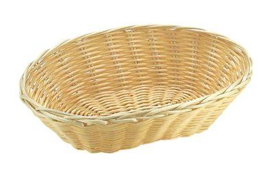 Panier à pain et à fruits APS, ovale, 18 x 12 cm, hauteur : 7 cm