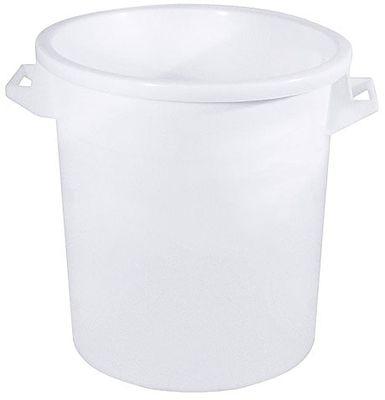 Kunststofftonne Polyethylen weiß 75l - ohne Deckel
