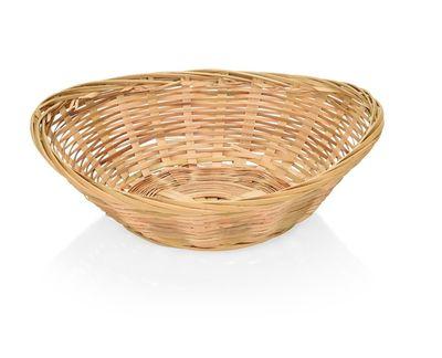 Corbeille à pain en bambou, ovale, 28 x 21 x 7 cm