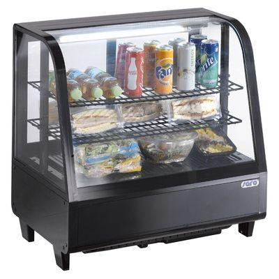 Tisch-Kühlvitrine Modell KATRIN schwarz - 100 Liter