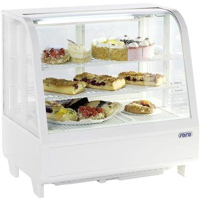 Tisch-Kühlvitrine Modell KATRIN weiß - 100 Liter