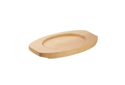 Dessous de plat en bois pour cocotte ovale en fonte