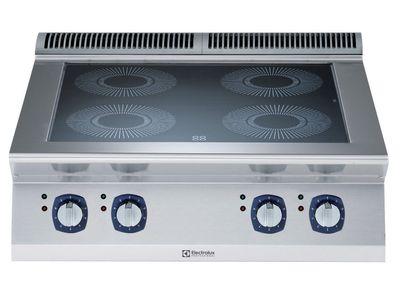 Cuisinière électrique à induction de table Electrolux, 4zones, 14kW, 800 x 730 x 250mm