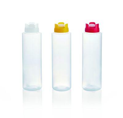 Quetschflasche mit Silikonventil, 0,7 Liter, gelb