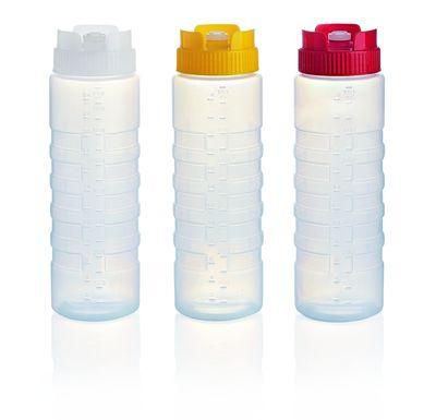 Quetschflasche Squeeze gewellt - Weiß