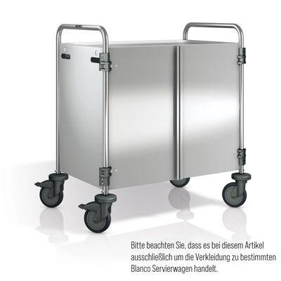 Blanco Servierwagenverkleidung Edelstahl 3-seitig mit frontseitigen Flügeltüren für SW 8x5