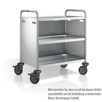 Blanco Servierwagenverkleidung Edelstahl 3-seitig für SW 10x6