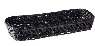 APS Besteckkorb -ECONOMIC- Horizontal, schwarz, 27 x 10 cm, H: 4,5 cm