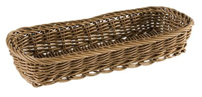 APS Besteckkorb -ECONOMIC- Horizontal, braun, 27 x 10 cm, H: 4,5 cm