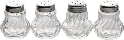 Mini-saupoudreuses APS, lot de 12, Ø de 3,5 cm chaque, hauteur : 4 cm