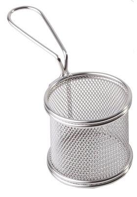 APS Servier-Frittierkorb, silber Ø 8 cm, H: 7,5 cm, Griff 9,5cm