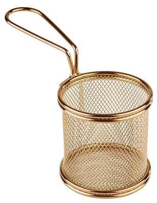 APS Servier-Frittierkorb, gold Ø 8 cm, H: 7,5 cm, Griff 9,5cm