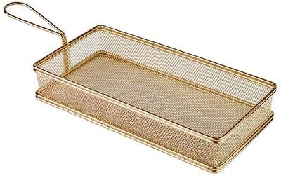 APS Servier-Frittierkorb, gold 26 x 13 cm, H: 5 cm