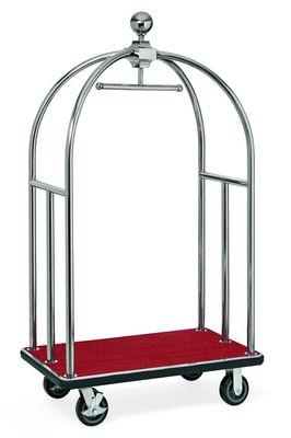 Chariot à bagages ECO 1060 x 630 x 1850 - Rouge argent