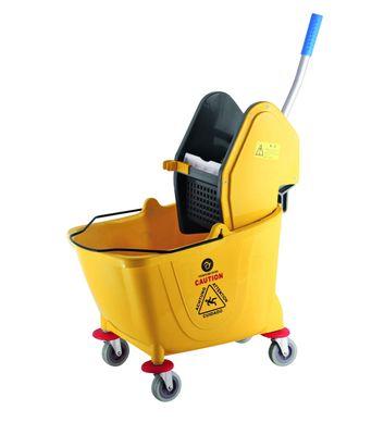 Chariot avec seau et essoreuse à serpillière, capacité 30 litres