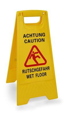 """Aufsteller """"Achtung Rutschgefahr"""" / """"Caution Wet Floor"""""""