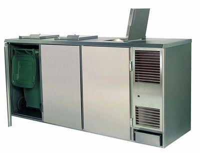 Abfallkühler Profi 3x240 Liter fertig montiert PLUS
