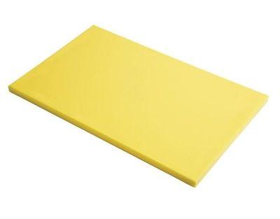 Planche à découper en polyéthylène haute densité Gastro M  jaune