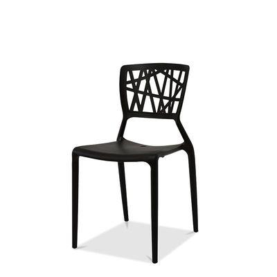 Chaise Webb noire, en polypropylène