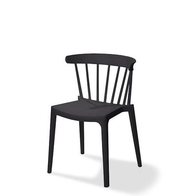 Chaise empilable Windson, noire, polypropylène