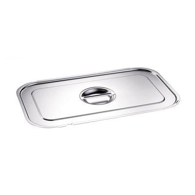 Blanco Edelstahl GN-Deckel GN  1/4 mit Griffmulde und Löffelaussparung für Gastronorm-Behälter mit Bügelgriffen