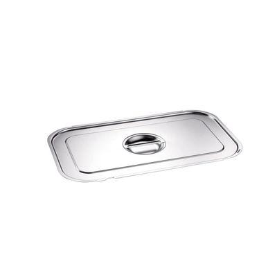 Blanco Edelstahl GN-Deckel GN  1/1 mit Griffmulde und Löffelaussparung für Gastronorm-Behälter mit Bügelgriffen