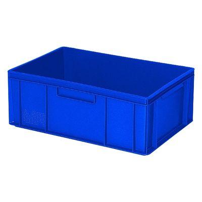 Euro-Stapelbehälter 600x400 mm, 2 Griffleisten, blau -  220 mm