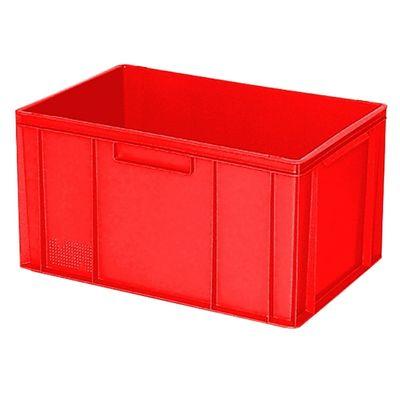 Bac empilable Euro 600x400 mm, 2 bandes de poignée, rouge - 320 mm
