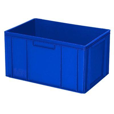 Euro-Stapelbehälter 600x400 mm, 2 Griffleisten, blau -  320 mm