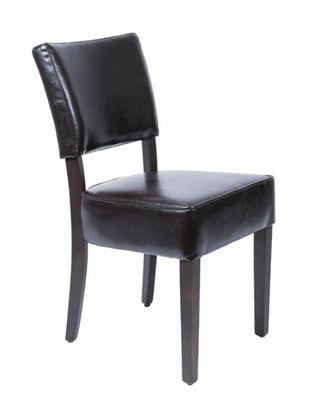 Esszimmerstühle Bolero mit tiefem Sitz Kunstleder dunkelbraun