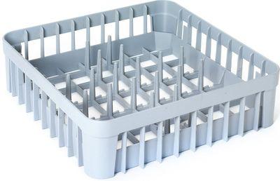 Panier en plastique avec compartiments pour 9assiettes 400x400 x120