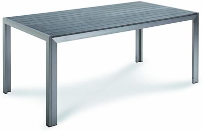 Tisch Seattle 180x90x76cm silber/anthrazit