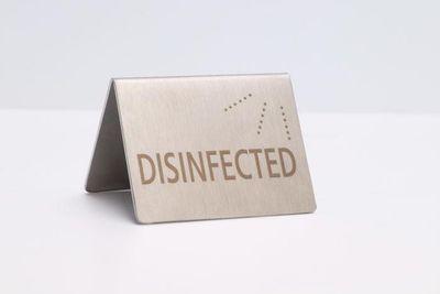 Chevalet de table APS «DESINFECTED/DESINFIZIERT»