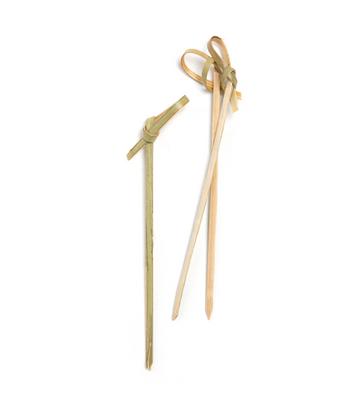 COMAS Cubiertos Bio Bambus Spieße LOOPED