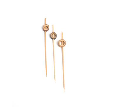 COMAS Cubiertos Bio Bambus Spieße RING 120 mm