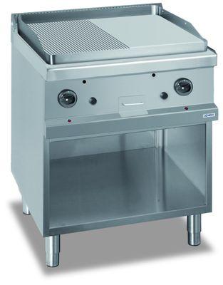 Gasgrillplatte Dexion Serie 77 - 70/70 ½ glatt, ½ gerillt
