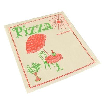 """Papstar 100 Pizzataschen, Pergamin 30 cm x 30 cm """"Cafeteria"""" fettdicht"""