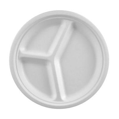 Papstar  Pure  Teller 3-geteilt; Zuckerrohr - 50 Stück