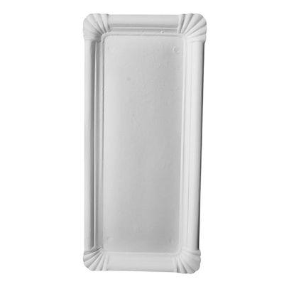 """250 assiettes Papstar, carton """"pur"""", carrées 11 cm x 24 cm, blanches"""