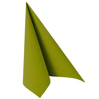 50 serviettes de table Papstar «Collection ROYAL» 1/4 de pli 40 cm x 40 cm vert olive