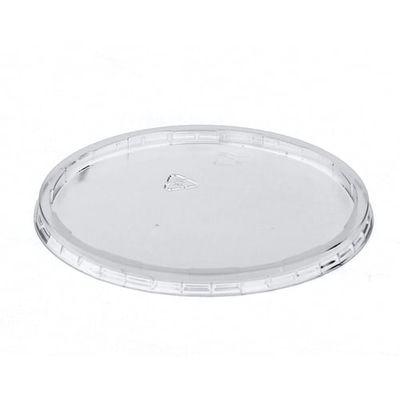 Papstar 100 Deckel für Verpackungsbecher, PP rund Ø 10,1 cm x H: 0,8 cm transparent