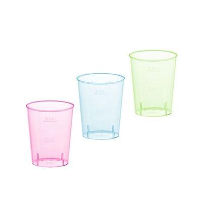 Papstar 40 Gläser für Schnaps, PS 4 cl Ø 4,2 cm x H: 5,2 cm farbig sortiert