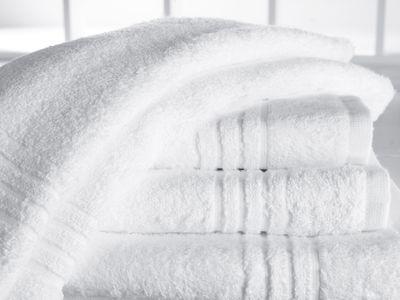 Serviette en tissu éponge Ambassador avec 4 bandes décoratives - 50 x 100 cm