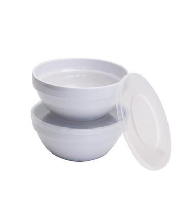 Set de bols à aliments frais APS réutilisables blanc - 1,8 l
