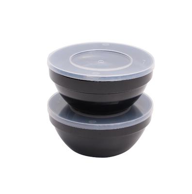 Set de bols à aliments frais APS réutilisables noir - 0,5 l
