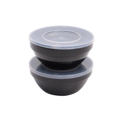 Set de bols à aliments frais APS réutilisables noir - 1,8 l
